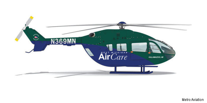 West Michigan Air Care (WMAC) signed with Metro Aviation for a EC145e to start operations from September 1st.