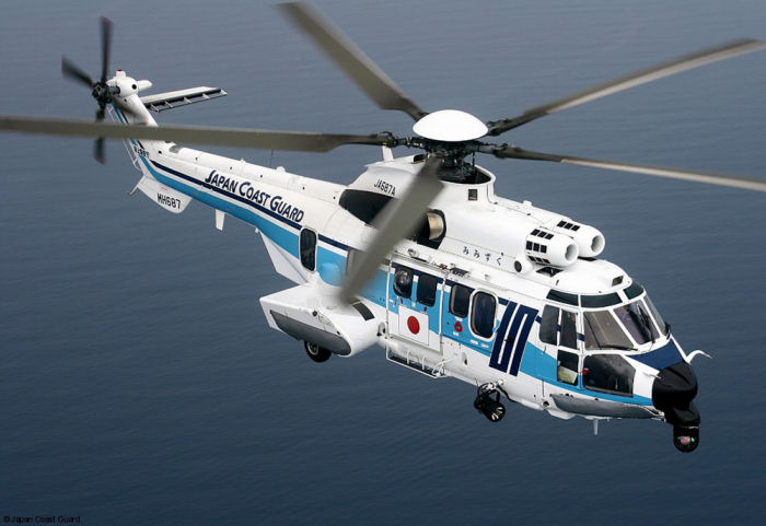 Japan Coast Guard  ordered their sixth H225/EC225LP as part of its older AS332L1 Super Puma fleet renewal plans. The helicopter is scheduled for delivery by the end of 2018