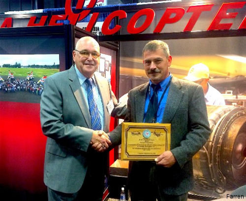 Farren International, a global supplier of transportation and rigging services, received an award from Columbia Helicopters   for successfully completing its 20th mission for the company.