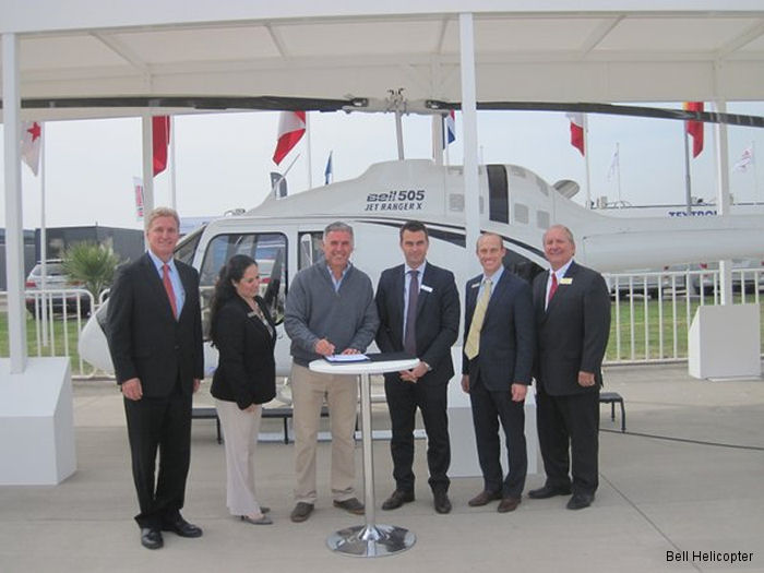 Bell Helicopter announced two Bell 505 letter of intent (LOI) signings in Chile to two corporate customers for VIP flights throughout the region.