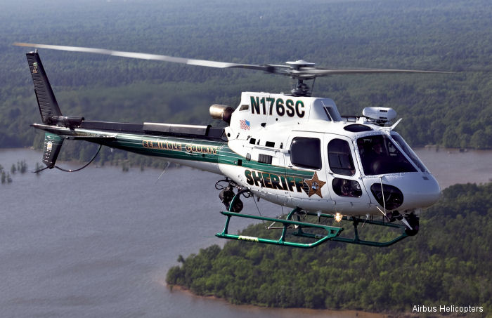 Seminole County, FL Sheriff's Office H125/AS350B3e AStar to be featured at the 2016 Airborne Law Enforcement Association (ALEA) Annual Conference and Expo in Savannah, GA, July 18-23