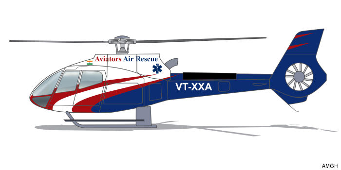 U.S. Air Medical Group Holdings (AMGH) joins with Aviators Air Rescue of India to initiate first dedicated HEMS operations. First of three H130 scheduled for second half of 2016