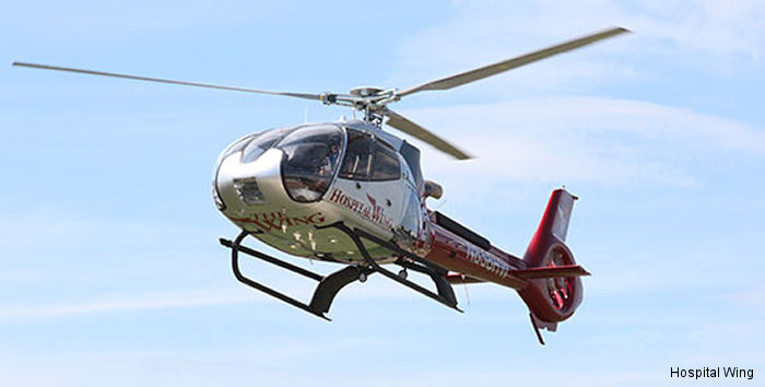 Hospital Wing, Tennessee Memphis based HEMS, received its second H130 / EC130T2. Now operates 7 Airbus Helicopters aircraft.