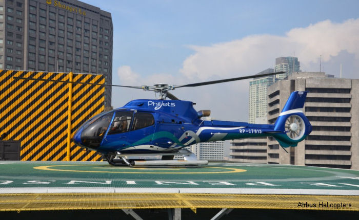PhilJets  placed an order for one brand new H130/EC130T2, scheduled for delivery in June 2016. Philippines based group will now have in total five H130s and one AS350B2.