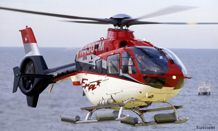 The majority of EC135 / H135 helicopters manufactured since 1996  have been powered by Pratt & Whitney Canada's PW206B engines in the P1/P2/P3 series