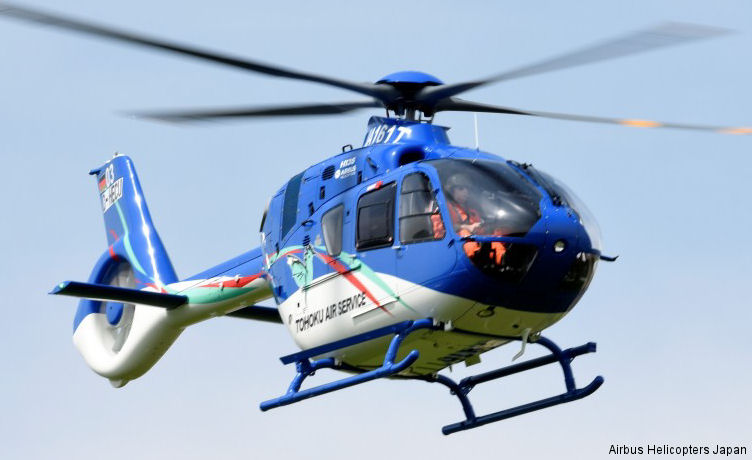 Airbus Helicopters in Japan has handed over a brand-new H135 / EC135P3 to Tohoku Air Service (TAS) the first operator in country