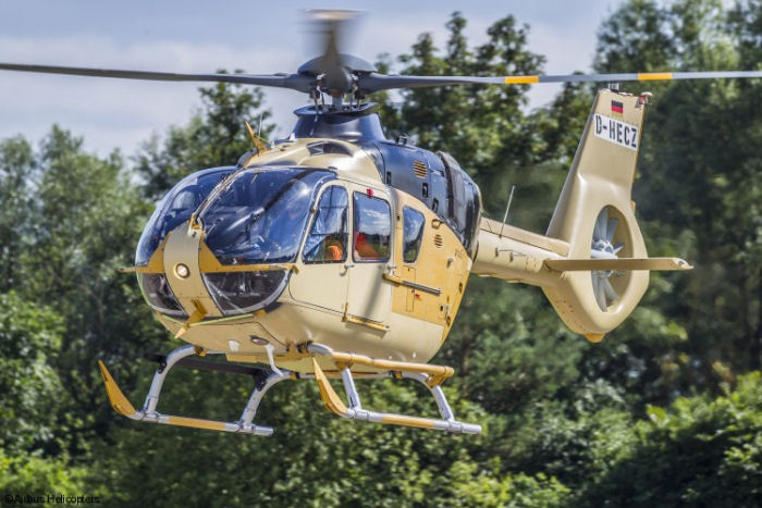 The first of 29 H135 / EC135T3 for the UK Military Flying Training System (MFTS) performed first flight at Airbus plant in Donauworth, Germany