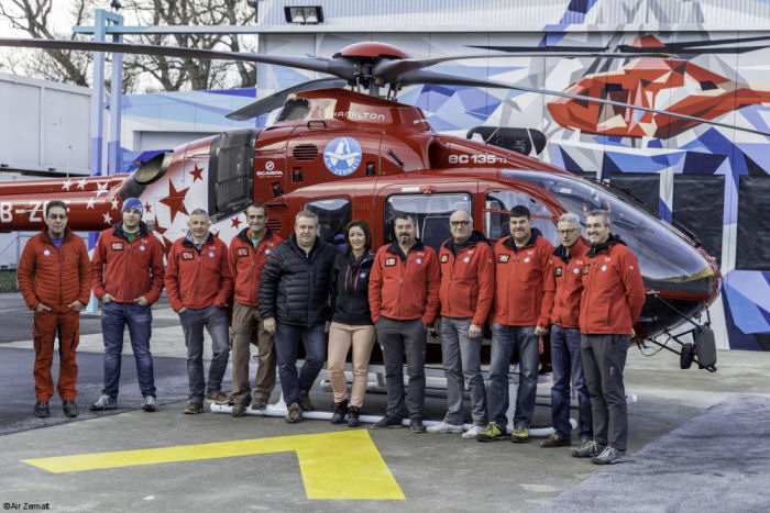 An H135 gets a makeover in Switzerland