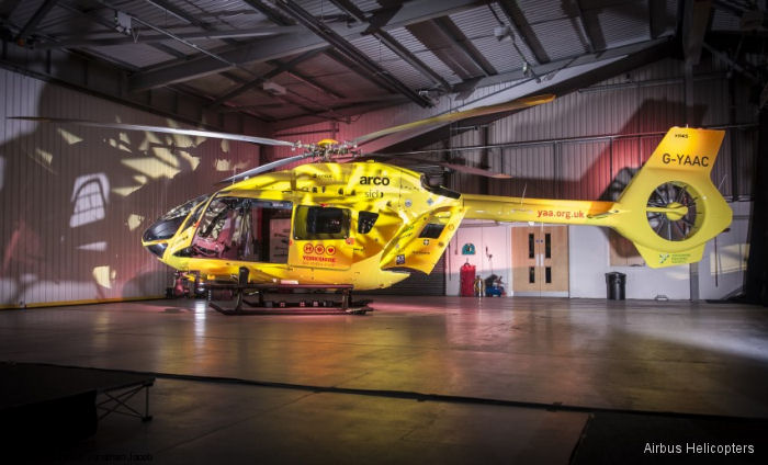 UK s Yorkshire Air Ambulance (YAA) unveiled their first of two new H145 / EC145T2 at an event at their air support unit at Nostell