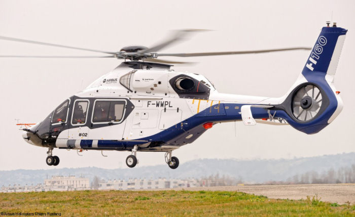 The H160 helicopter second prototype joins the flight test program after first ground run performed on December 18, 2015. PT2 is the first H160 to fly with the Turbomeca Arrano engines.
