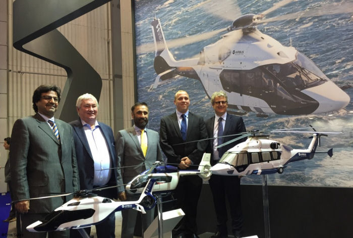 Airbus Helicopters and UAE based Falcon Aviation have signed a letter of intent  (LoI) for a VIP version of the H160 during EBACE 2016 in Geneva