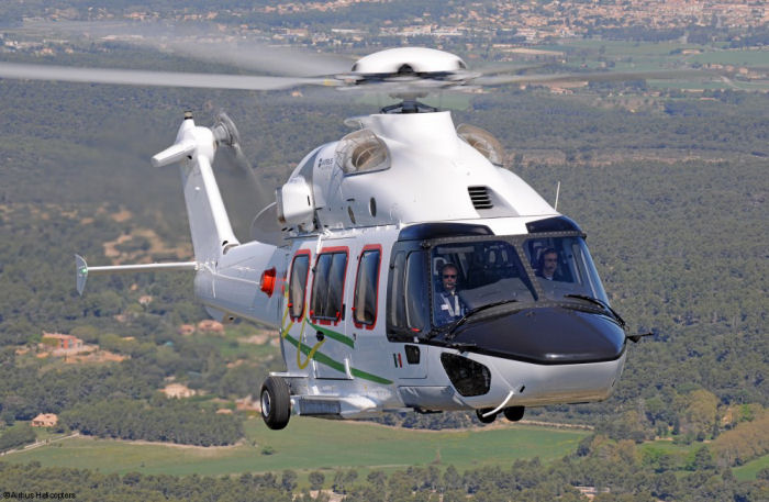 Airbus Helicopters' new 7-ton class H175 helicopter in operations with NHV (8 in Denmark, Netherlands, Scotland and Ghana ) and with Pegaso (1 in Mexico). More than 100 H175 are in order worldwide