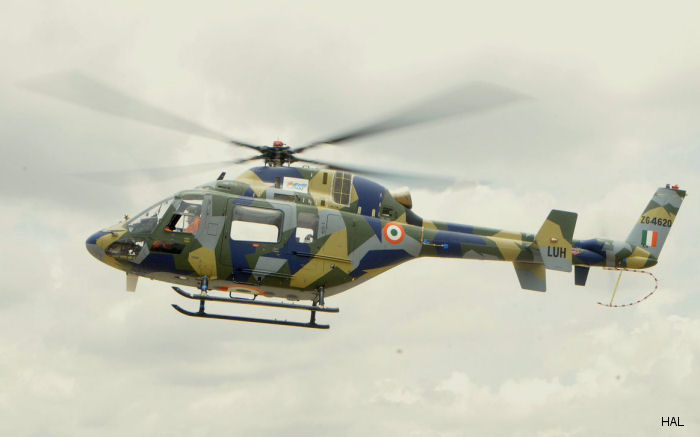HAL Light Utility Helicopter (LUH) completes maiden flight at Bengaluru today.