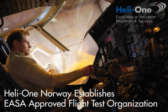 Heli-One, CHC MRO Service, Norway facility has been approved for Category 1 flight testing by the European Aviation Safety Agency (EASA)