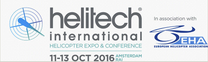 Europe s leading rotorcraft event to return to Amsterdam from 11-13 October 2016