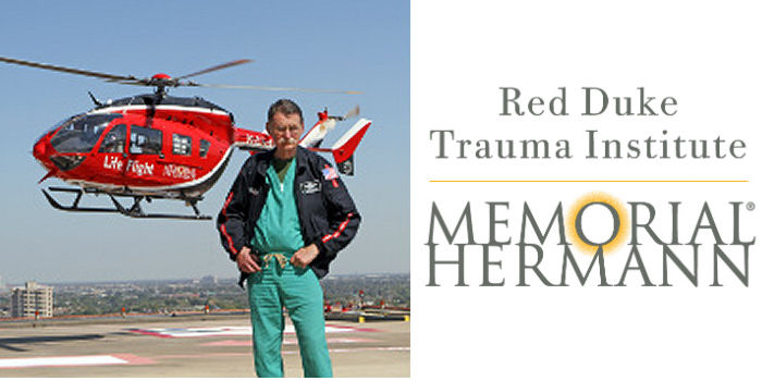 "The Memorial Hermann Texas Trauma Institute was renamed In honor of the late James H. ""Red"" Duke, Jr."