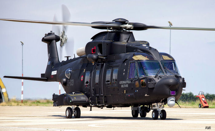 "Italian Air Force celebrated entry into operational service of their first HH-101A ""CAESAR"" during an official ceremony at Cervia Air Base. Four, of 15 ordered, have been delivered from Yeovil, UK"