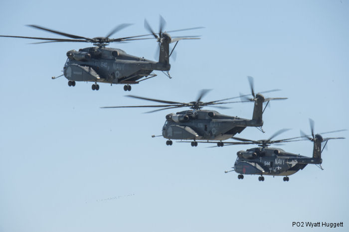 HM-14 conducts five-helicopter formation