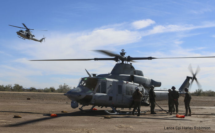 Marine Light Attack Helicopter Squadron HMLA-267 took part in exercise Scorpion Fire 1-16 on and near Naval Air Facility El Centro, California
