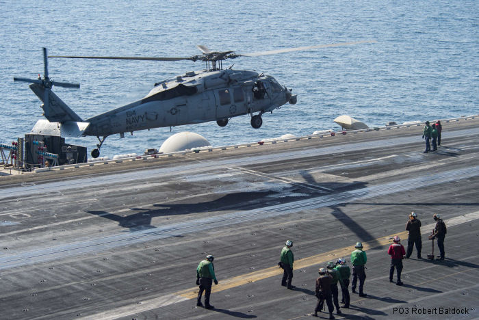 US Navy Helicopter Sea Combat Squadron HSC-7 completed specialized Combat Search and Rescue (CSAR) and Special Operations support training on USS Dwight D Eisenhower (CVN 69) in the Arabian Gulf