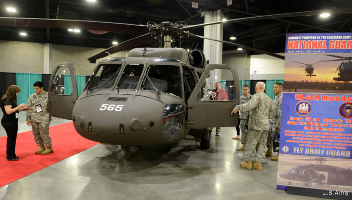 UH-60M Black Hawk on display at  2016 Army Aviation Mission Solution Summit in Atlanta