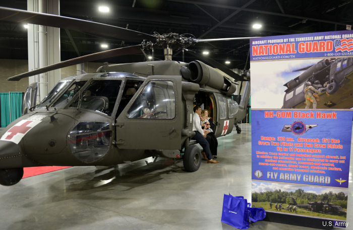 HH-60M MEDEVAC Black Hawk on display at  2016 Army Aviation Mission Solution Summit in Atlanta