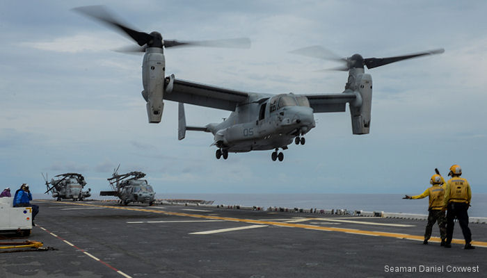 VMM-365 embarked on USS Iwo Jima for Hurricane Matthew disaster relief