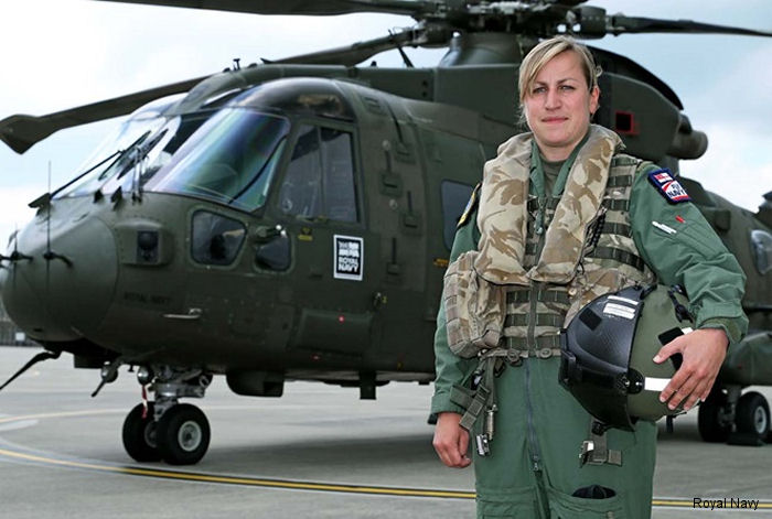 Royal Navy 846 Naval Air Squadron Junglie Merlin pilot Lieutenant Natalie Grainger named one of the country's top 100 rising stars in the female-only We Are The City awards.