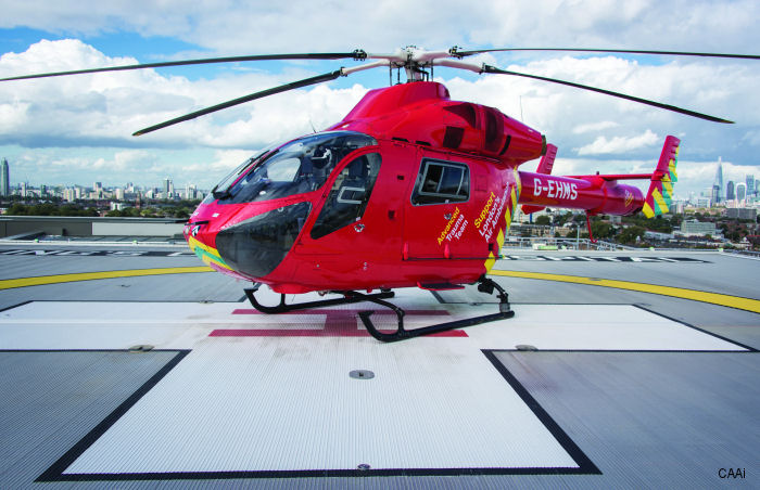 The UK's first onshore elevated helipad with a Deck Integrated Fire Fighting System (DIFFS) at Kings College Hospital (KCH) in London has been certified by CAA International (CAAi)