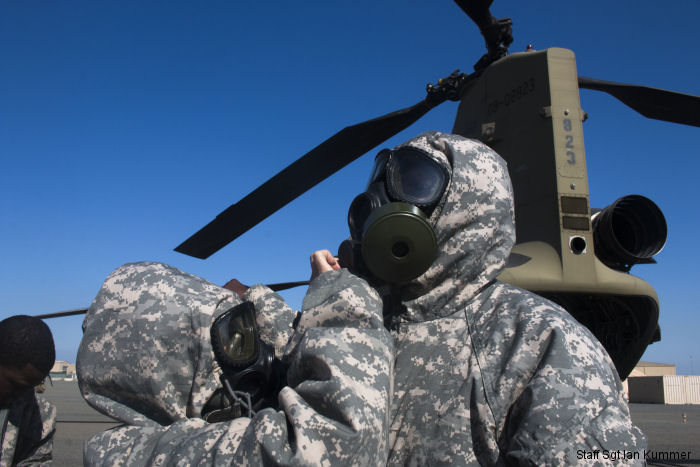 40th CAB and 366th Chemical Co. train for CBRN attack