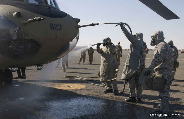 40th CAB and 366th Chemical Co  Train CBRN in Kuwait