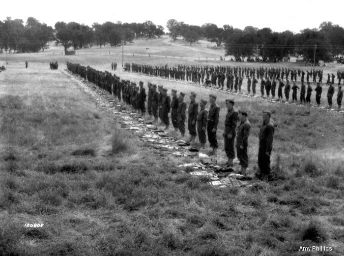June 1941, 4th Army stands in formation at Hunter Liggett Military Reservation
