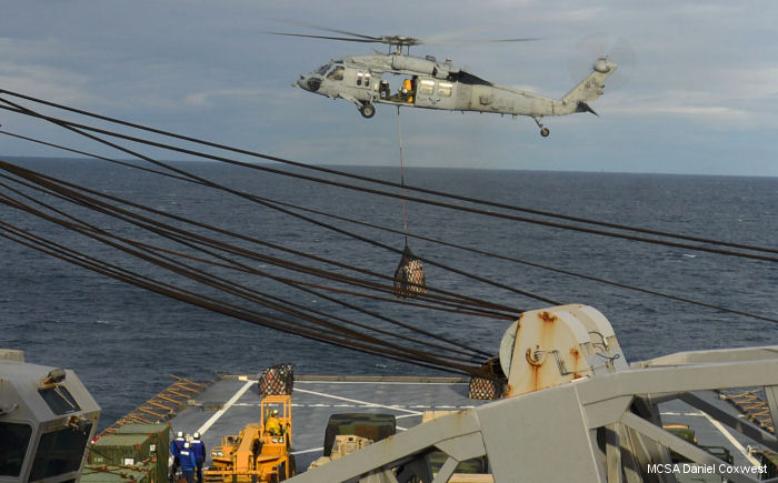 MH-60S Seahawk /BR-33 from HSC-28 aboard USS Fort McHenry (LSD 43) for Cold Response 16