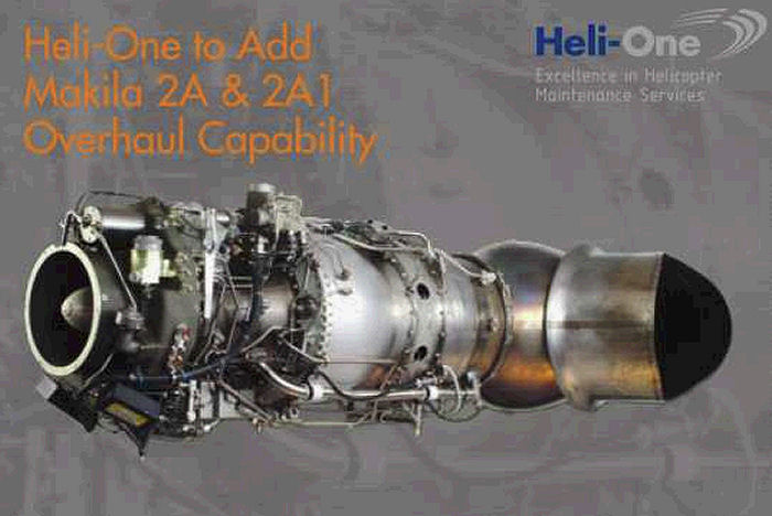 Heli-One, CHC MRO Service, announced plans to add Turbomeca Makila 2A and 2A1 engine overhaul in addition to current Makila 1A, 1A1 and 1A2 variations currently serviced at Stavanger, Norway