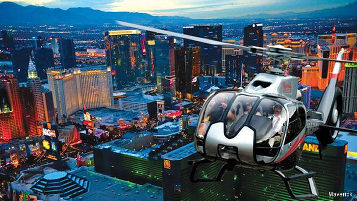 Maverick Helicopters partners with Uber to launch UberCHOPPER in Las Vegas during the Consumer Electronics Show (CES) January 6 to January 9.