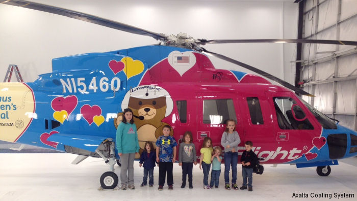 Axalta partnered with SureFlight to refinish two colorful, child-friendly pediatric critical care transport helicopters for Nicklaus Children s Hospital, part of Miami Children's Health System.