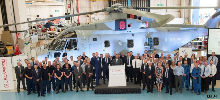 Lockheed Martin UK celebrating 25th Anniversary supporting Royal Navy's Merlin helicopter. First contract for the Merlin Mk1 signed  October 9, 1991