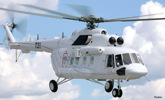 Russian Helicopters has delivered a VIP Mi-171E helicopter with a superior comfort cabin to the government of Uganda. Features included  a wardrobe, food station, toilet and widescreen displays.