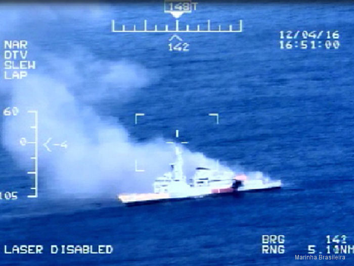 Brazilian Navy Fires Missile for MISSILEX 2016