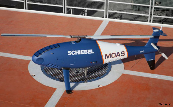 Since 2014 a S-100 drone was onboard MOAS' (Migrant Offshore Aid Station) ship MY Phoenix Schiebel in the Mediterranean. 30.000 persons have been rescued and assisted with medical aid