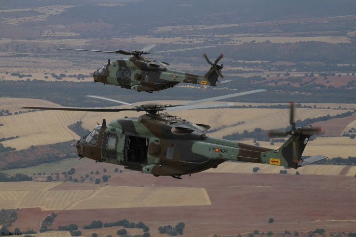 Airbus Albacete plant handover first 2 NH90 to the Spanish Army Aviation (FAMET) marking the entry into service of the new helicopter