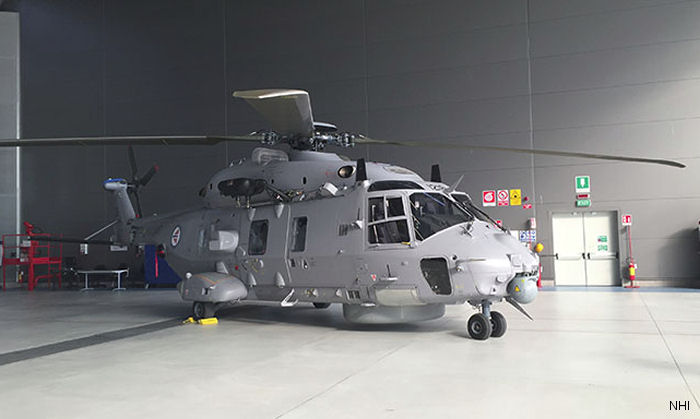 The delivery of this sonar equipped NH90, 6th of 14, marks the end of the first phase of the Norwegian programme and will commence embarked operations for the Norwegian Coast Guard later this year.
