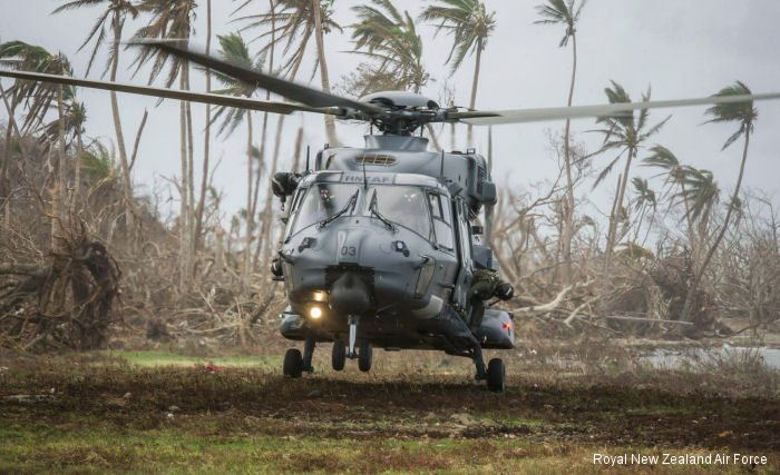 Royal New Zealand Air Force NH90 helicopters are successfully performing in their first overseas mission during the Cyclone Winston relief operations in Fiji. Two deployed with HMNZS Canterbury