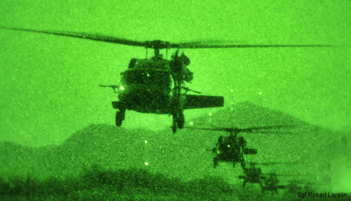 US, ROK soldiers conduct night air assault training