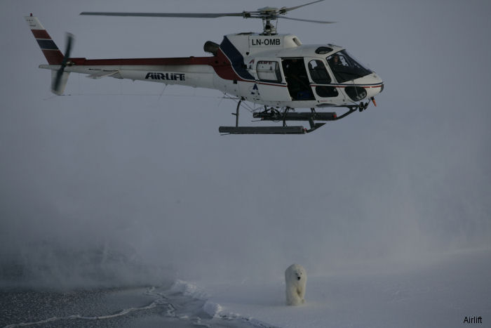 The Norwegian Polar institute awarded a 3 years contract to Airlift AS for helicopter service in the Arctic