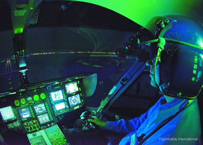 FlightSafety International announces that it will offer Part 142 approved Night Vision Goggle (NVG) training using Level D qualified simulators in Dallas now in H135 and in Bell 212/412 later