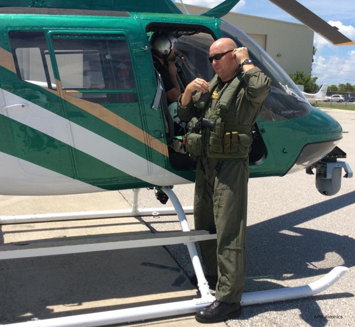 APG Avionics installed surveillance system SITE-20 on the State of Florida's Charlotte County Sheriff's Office (CCSO) Bell OH-58 Kiowa