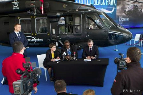 PZL Mielec, together with representatives from Polish suppliers, celebrated the completion and shipment of the 300th Black Hawk helicopter cabin built in Poland.