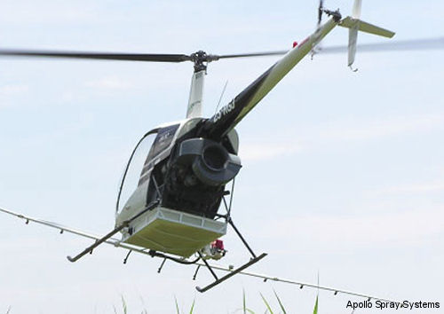 Brazil certifies Apollo Spray Systems DTM-3 for Robinson R22 helicopters
