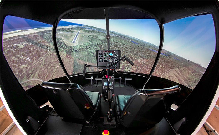A high fidelity simulator for the Robinson R44 helicopter was delivered to Sky Safari. 14 major Chinese flight universities, colleges and private training centers operates 34 Frasca simulators